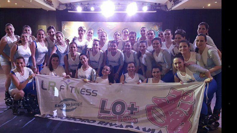 Las integrantes del grupo Kangoo Club Lo+ exhibieron toda su destreza en el primer Festival Internacional de Kangoo Jumps que se realizó en Buenos Aires.