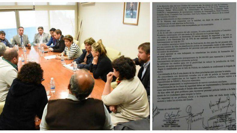 Williams recibió a vecinalistas de Comodoro preocupados por la inseguridad
