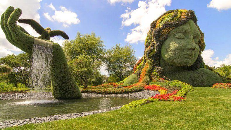 Magníficas esculturas en el Jardín Botánico de Montreal