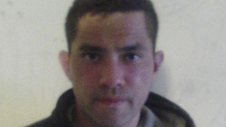 La fotografía que la Policía de Río Negro le tomó a Javier Lezcano al lograr su captura.