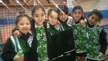Las niñas de Laprida fueron participantes del encuentro de minihóckey.