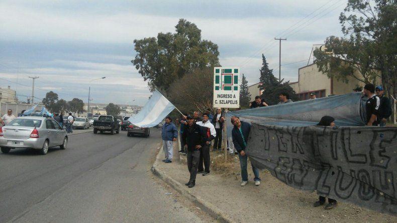 Trabajadores de Guilford se manifestaron en la ruta