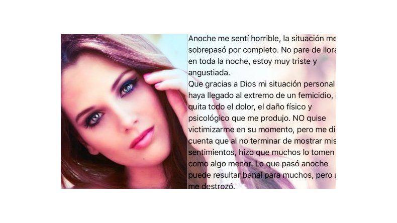 Barbie Vélez: Gracias a Dios mi situación personal no llegó al extremo de un femicidio