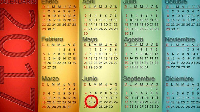 Hasta ahora confirmaron un solo feriado puente para el 2017