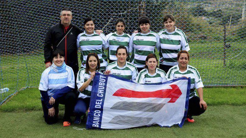 El equipo femenino de Banco del Chubut.