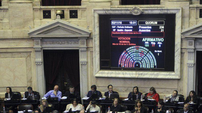 Diputados aprobó una iniciativa considerada prioritaria por el Gobierno nacional.
