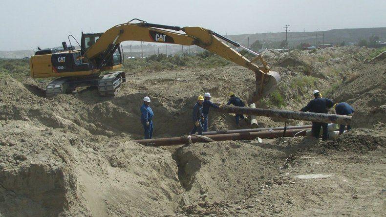 Los trabajos que se están realizando en zona norte para cambiar el tendido de redes.