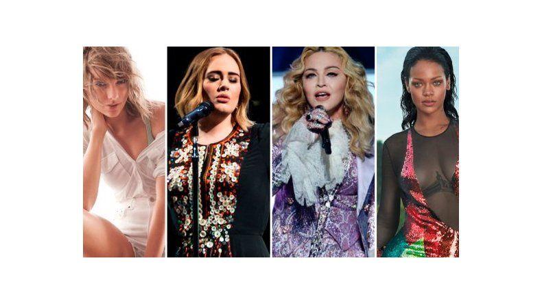 Las cantantes mejores pagas de 2016