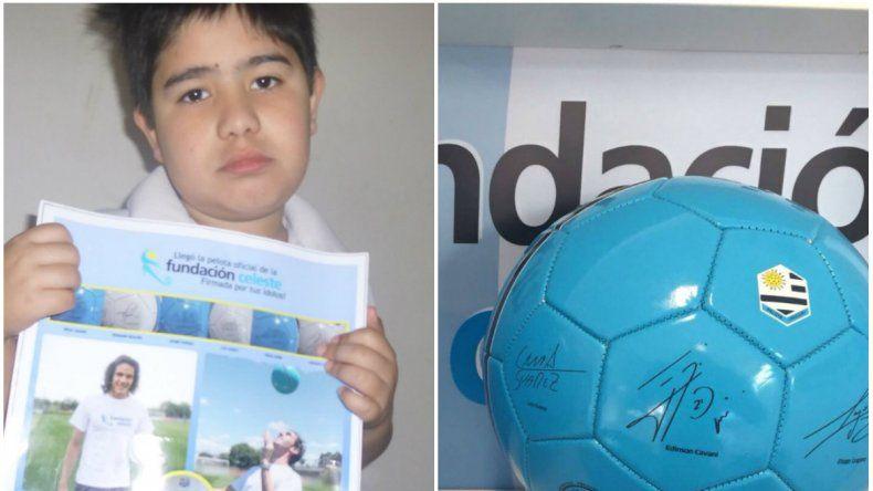 Le robaron la pelota a un nene de 10 años que estaba firmada por Luis Suárez