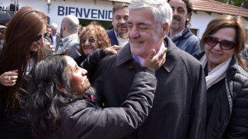 Mario Das Neves durante la actividad que desarrolló ayer en José de San Martín.