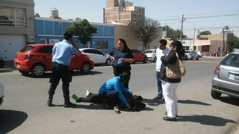 Resultó herido un motociclista en un accidente en La Loma