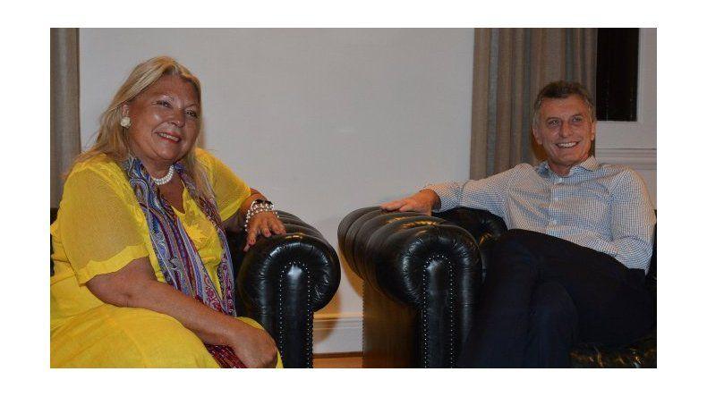 Después de los cruces con fuertes críticas, Macri recibió a Carrió en Olivos