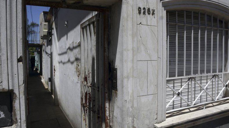 La casa donde violaron a una mujer en La Plata.