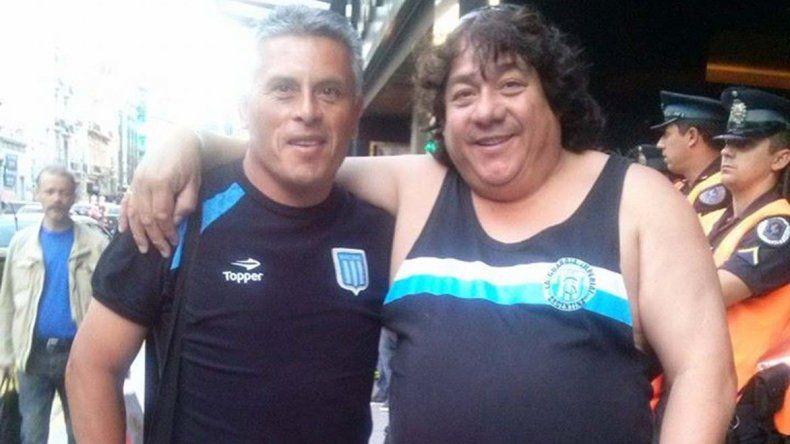 Cacho Costa junto a Jorge Gato Montesino