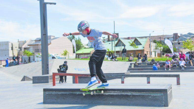 Los skaters más chicos también disfrutaron de la segunda fecha de la Liga Provincial.