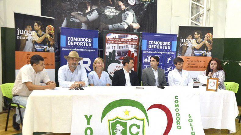 La presentación de la visita de Fabricio Oberto y de otras actividades solidarias que se desarrollarán para contribuir con el Hospital Regional.