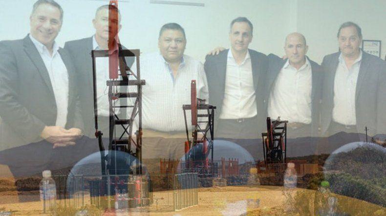 Sindicalistas petroleros y el intendente Linares mantuvieron ayer con directivos de Pan American Energy.