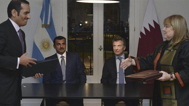 El presidente Mauricio Macri y el Emir de Qatar