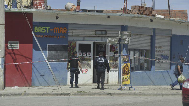El lugar donde el lunes cerca del mediodía se produjo el homicidio de Darío Huaiquil.