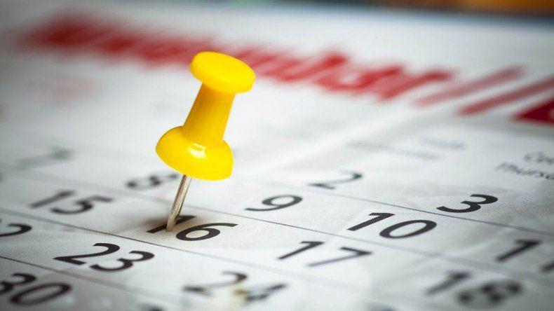Así quedará el calendario de feriados en 2017