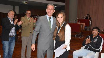Legislatura distinguió a la deportista comodorense Leila Ramos
