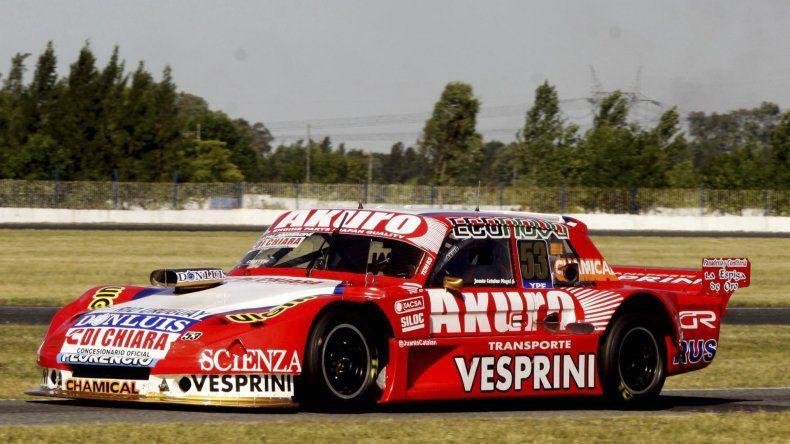 El Ford de joven Juan Tomás Catalán Magni que ayer se quedó con el título del TC Mouras.