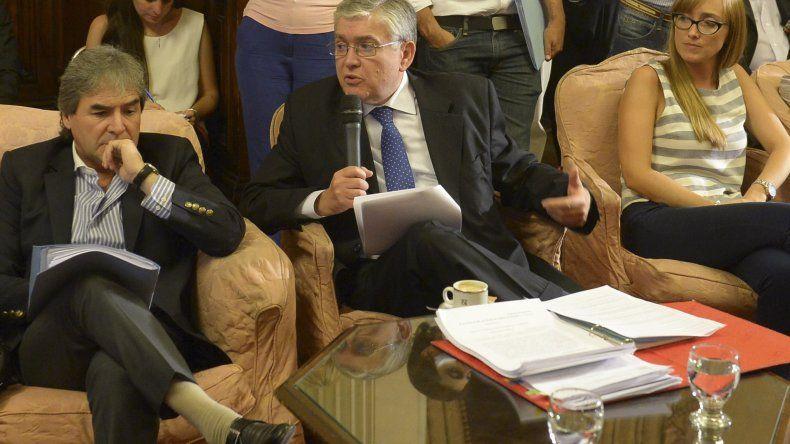 La exposición de Mario Pais ante la comisión bicameral.