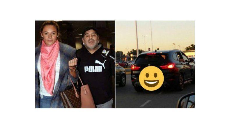 Diego Maradona llegó a Buenos Aires: está con Rocío Oliva y Diego Junior