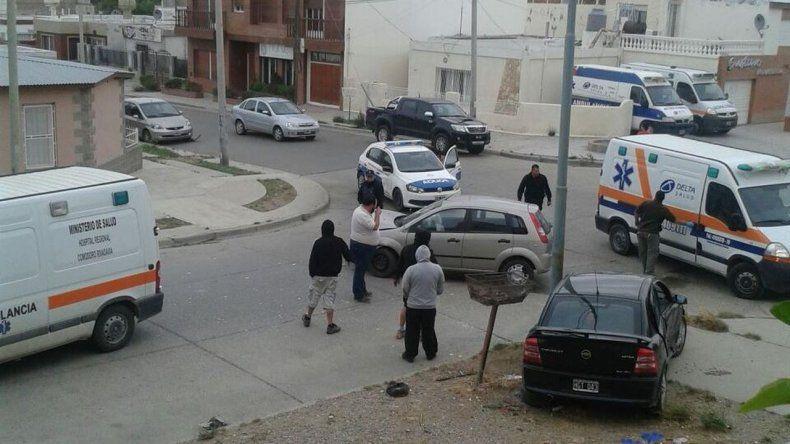 Dos conductoras resultaron heridas  al chocar en B° Pueyrredón