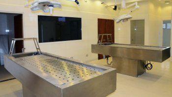 Ya está lista la moderna Morgue Judicial en el Cementerio Oeste, pero resta la instalación de un equipo de rayos para poder habilitarla.