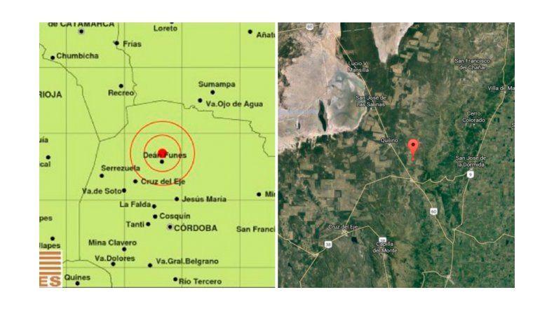 Sismo de 4.8 grados en la escala de Richter sacudió al norte de Córdoba