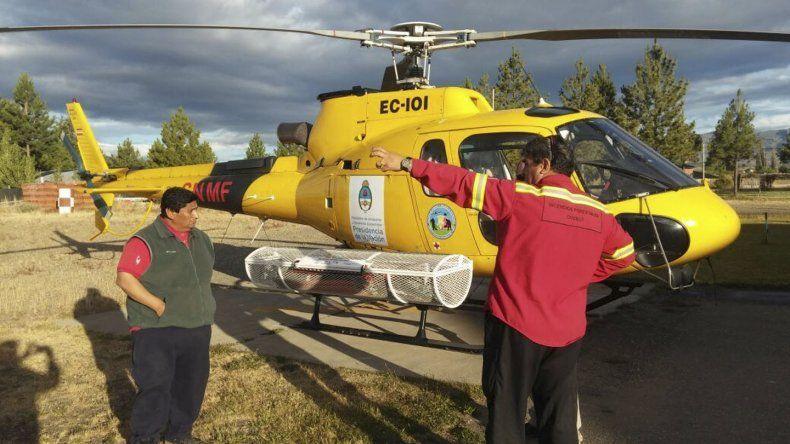Provincia sumó un helicóptero para luchar contra el fuego.