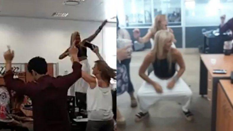 Echaron a la funcionaria que bailó arriba de un escritorio en la ex ESMA