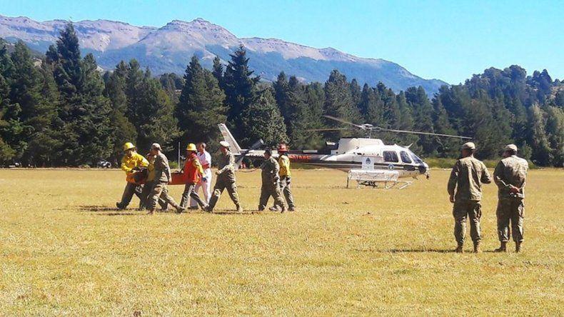 Los militares accidentados en el Volcán Lanín siguen en estado crítico