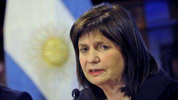 Patricia Bullrich, ministro de Seguridad de la Nación.