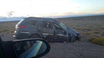 Una familia de Comodoro volcó en Ruta 40: murieron dos personas
