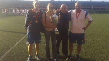Mario Amado, entrenador de la CAI que finalizó cuarto en el reciente Mundialito de fútbol jugado en Valdivia, Chile.