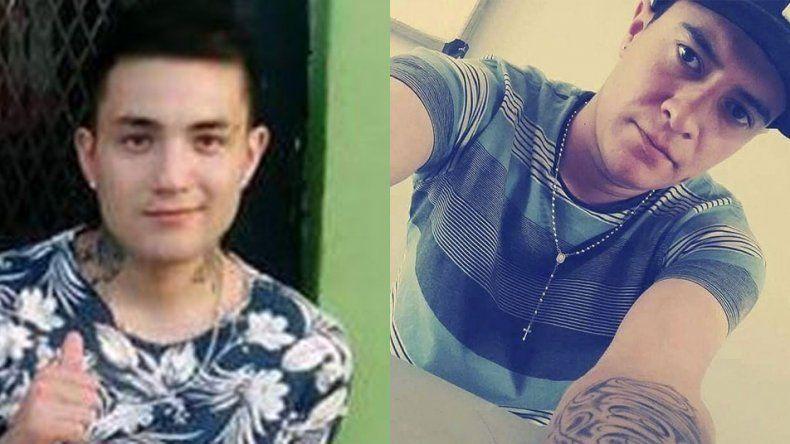 Joaquín Suárez y su primo Matías Suárez. Al joven de 24 años lo acusan del homicidio de su familiar.