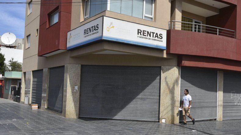 Las oficinas centrales de la Dirección de Rentas