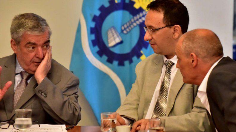 Junto al intendente Adrián Maderna