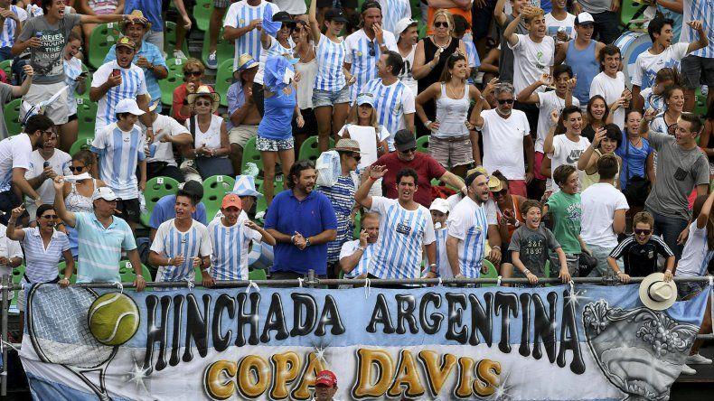 El público argentino alentó en todo momento