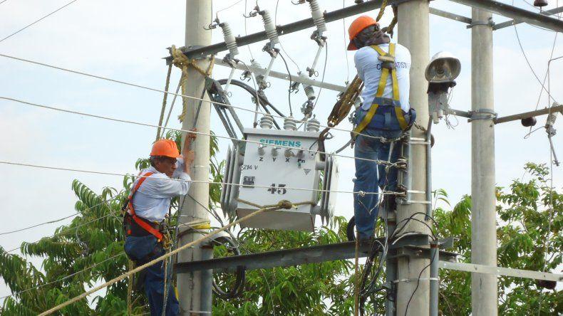 Corte de energía en diez barrios de la ciudad