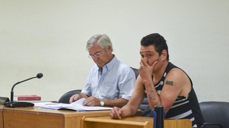 Nelson Aguilante en la audiencia en la que se le dictó la prisión preventiva. Fue el sábado 28 de enero