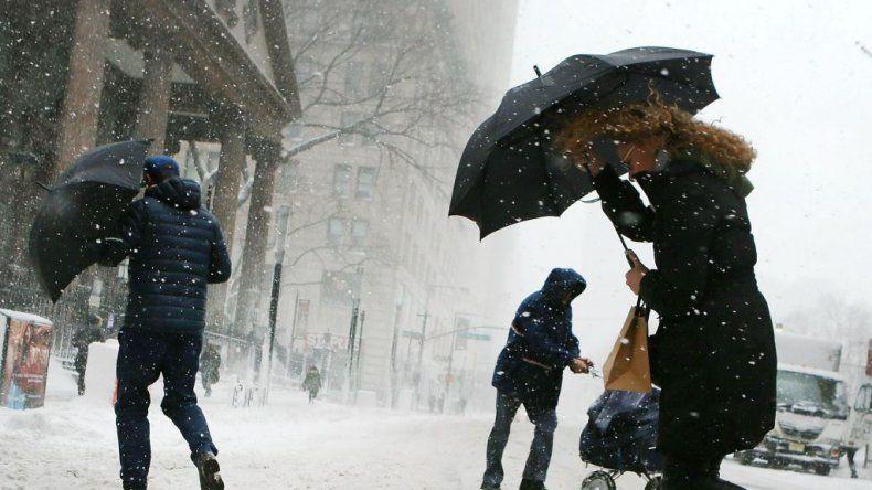 El temporal de nieve en Nueva York, en fotos