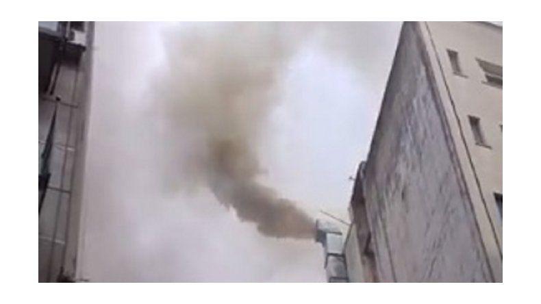 Se incendió un edificio en pleno Recoleta