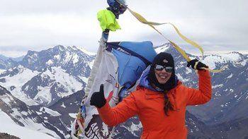 En la cumbre de El Plomo (5424 msnm) en Chile.