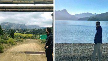 Del Potro visitó la Patagonia