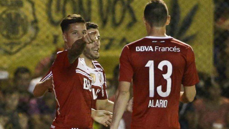 Driussi comparte con Alario el 80 por ciento de los goles de River.