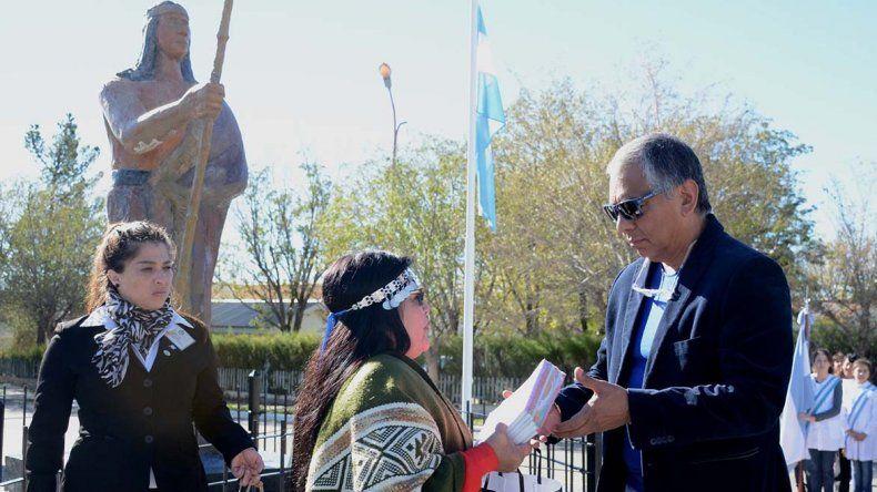 La referente de la comunidad mapuche