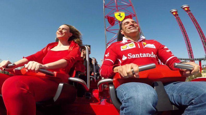 Sin duda el emblema de Ferrari Land es su montaña rusa denominada Red Force